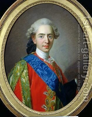 Portrait of Dauphin Louis of France 1754-93 aged 15 1769 by Louis Michel van Loo - Reproduction Oil Painting