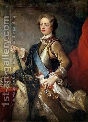 Louis XV 1710-74 by Jean Baptiste van Loo - Reproduction Oil Painting