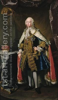 Frederick Prince of Wales by Jean Baptiste van Loo - Reproduction Oil Painting