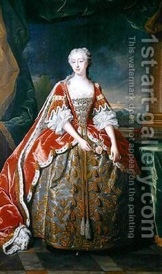 Princess Augusta by Jean Baptiste van Loo - Reproduction Oil Painting