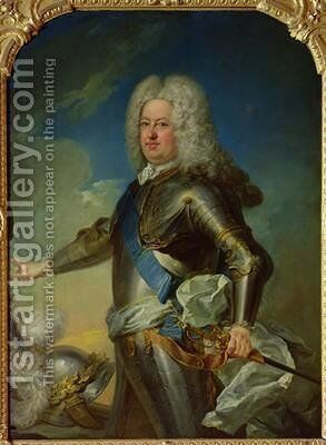 Portrait of Stanislas Lesczinski 1677-1766 King of Poland by Jean Baptiste van Loo - Reproduction Oil Painting
