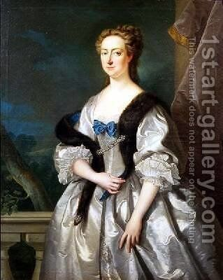 Portrait of Maria Skerret second wife of Sir Robert Walpole by Jean Baptiste van Loo - Reproduction Oil Painting