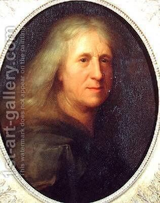 Portrait of Thomas Corneille 1625-1709 by Jacob van Loo - Reproduction Oil Painting