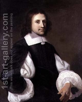 Portrait of a Gentleman 1656 by Jacob van Loo - Reproduction Oil Painting
