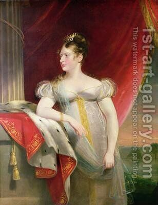 Princess Charlotte 1796-1817 by James Lonsdale - Reproduction Oil Painting