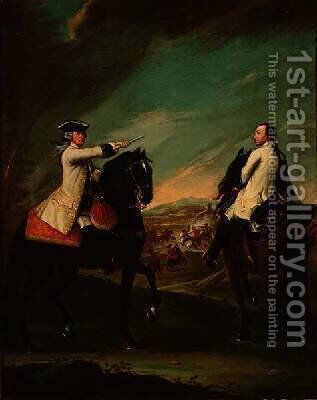 Guglielmo de Montfort and his Field Attendant by Pietro Longhi - Reproduction Oil Painting