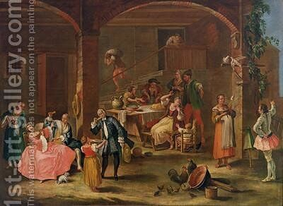 Lunch in the Country by (after) Longhi, Pietro - Reproduction Oil Painting