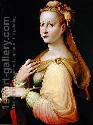 St Catherine of Alexandria by Barbara Longhi - Reproduction Oil Painting