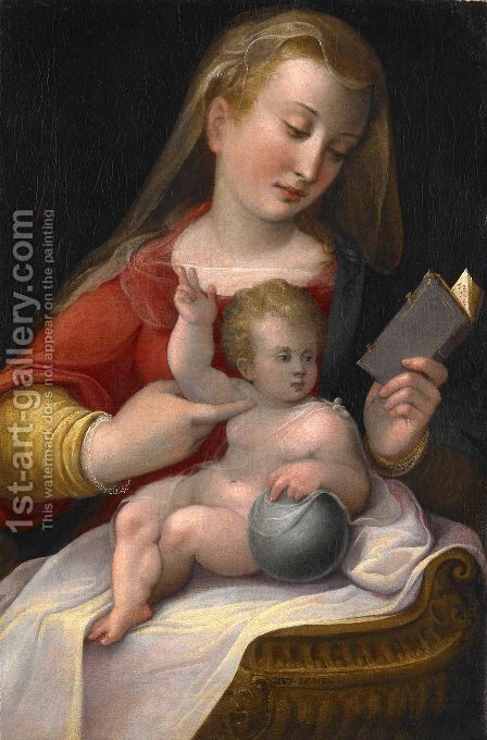 Madonna and Child 1580-85 by Barbara Longhi - Reproduction Oil Painting