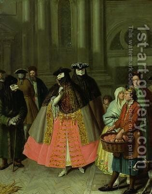 The Apple Seller by Alessandro Longhi - Reproduction Oil Painting