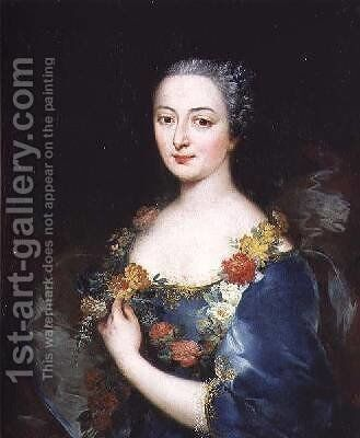 Portrait of a Young Woman by Alessandro Longhi - Reproduction Oil Painting