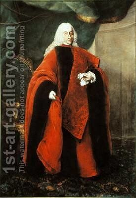 Portrait of the Venetian Prosecutor Vettor Pisani by Alessandro Longhi - Reproduction Oil Painting