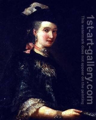 Portrait of a Gentlewoman by Alessandro Longhi - Reproduction Oil Painting
