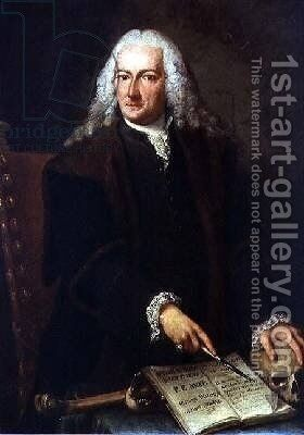 Portrait of Giuseppe Pellegrini by Alessandro Longhi - Reproduction Oil Painting