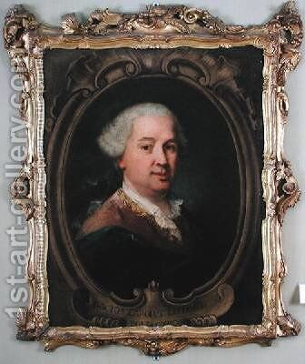 Portrait of Carlo Goldoni 1707-93 by Alessandro Longhi - Reproduction Oil Painting