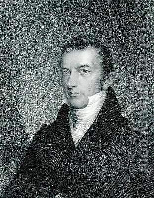 Joel Roberts Poinsett by James Barton Longacre - Reproduction Oil Painting