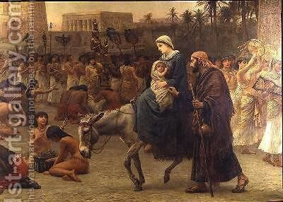Anno Domini or the Flight into Egypt 1883 by Edwin Longsden Long - Reproduction Oil Painting