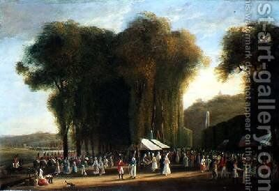 Jour de Fete at StCloud British troops on duty September 1815 by Amelia Long - Reproduction Oil Painting
