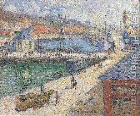 The Port of Fecamp 1924 by Gustave Loiseau - Reproduction Oil Painting