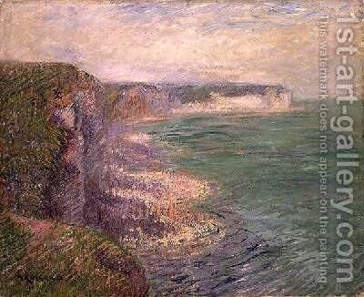 The Cliffs at Fecamp 1920 by Gustave Loiseau - Reproduction Oil Painting