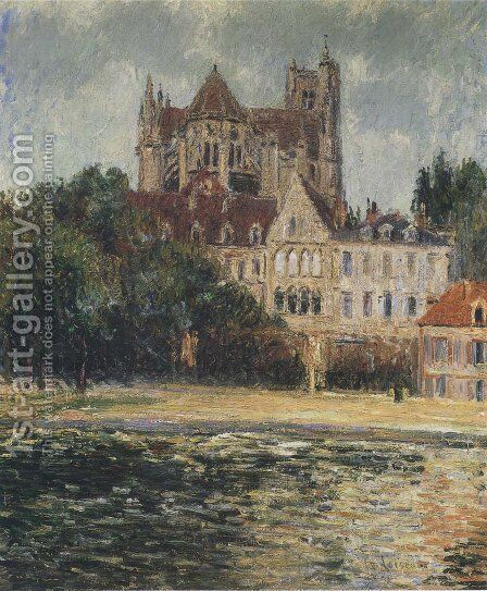 Auxerre Cathedral 1908 by Gustave Loiseau - Reproduction Oil Painting