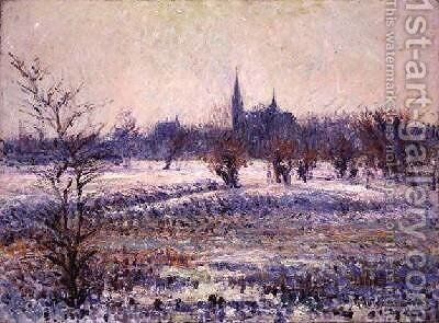White Frost 1909 2 by Gustave Loiseau - Reproduction Oil Painting