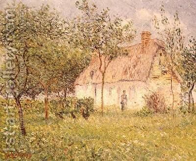 The Thatched Cottage 1895 by Gustave Loiseau - Reproduction Oil Painting