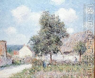 Farmhouse in Vaudreil 1900 by Gustave Loiseau - Reproduction Oil Painting