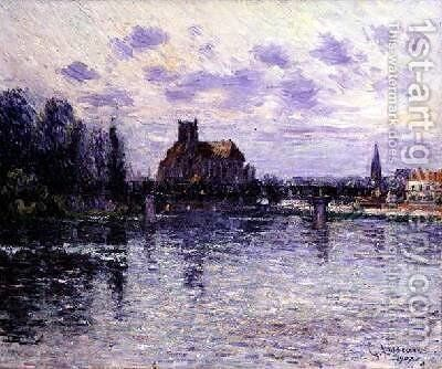 Auxerre Cathedral 1907 by Gustave Loiseau - Reproduction Oil Painting