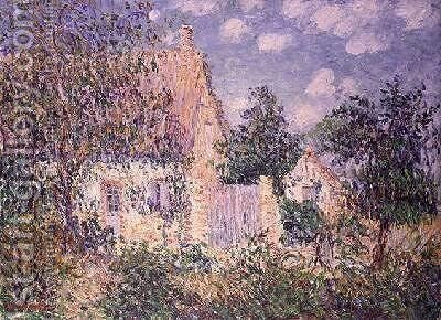 Cottage at St Cyr du Vaudreuil by Gustave Loiseau - Reproduction Oil Painting