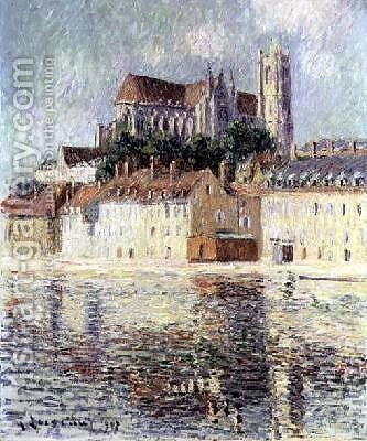 Auxerre Cathedral 1907 2 by Gustave Loiseau - Reproduction Oil Painting