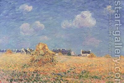 Haystacks by Gustave Loiseau - Reproduction Oil Painting