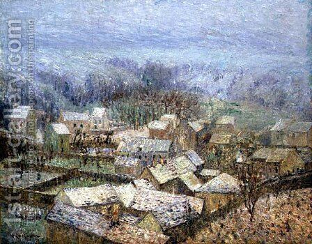 Winter at Pontoise by Gustave Loiseau - Reproduction Oil Painting
