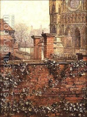 Minster Yard by Marion Logsdail - Reproduction Oil Painting