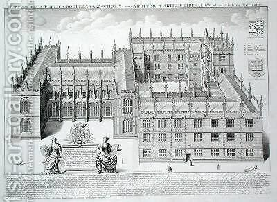 Bodleian Library by David Loggan - Reproduction Oil Painting