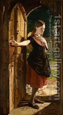 Little Nell leaving the Church by James Lobley - Reproduction Oil Painting