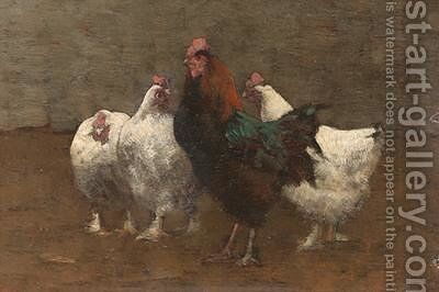 Fowls 1896 by Horace Mann Livens - Reproduction Oil Painting