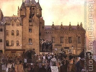 Before the Ballot Act Canongate Tolbooth Edinburgh 1884 by J. Little - Reproduction Oil Painting