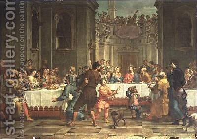 Wedding Feast at Cana by Bartolomeo Litterini - Reproduction Oil Painting