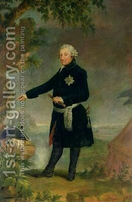 Portrait of Frederick II 1712-86 the Great 1772 by Anna Dorothea (Therbusch) Lisiewska - Reproduction Oil Painting
