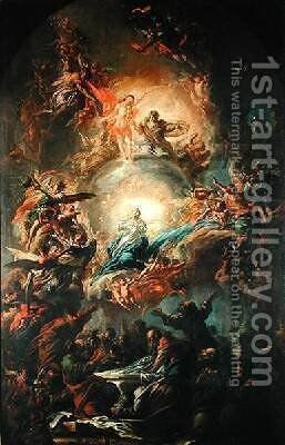 The Assumption 1695 by Johann Christoph Lischka - Reproduction Oil Painting