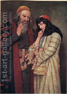Shylock and Jessica by James Dromgole Linton - Reproduction Oil Painting