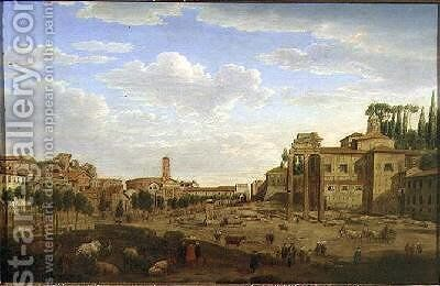 The Campo Vaccino Rome by Hendrik Frans Van Lint - Reproduction Oil Painting