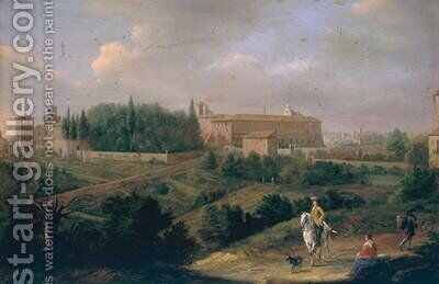 View of Rome with the Convent of San Pietro in Vincoli by Hendrik Frans Van Lint - Reproduction Oil Painting