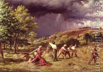 A Thunder Shower 1859 by James Thomas Linnell - Reproduction Oil Painting