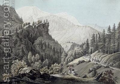 View of the Chamonix Valley 1789 by Jean Antoine Linck - Reproduction Oil Painting