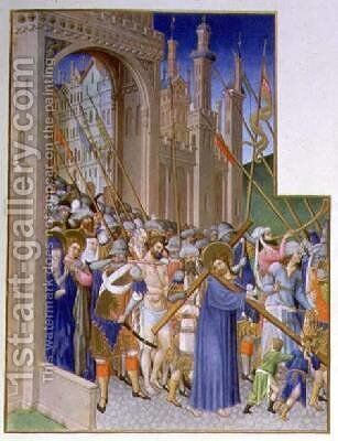Christ Carrying the Cross on his way to Calvary by Pol de Limbourg - Reproduction Oil Painting