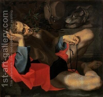 St Roch by Andrea Lilio - Reproduction Oil Painting