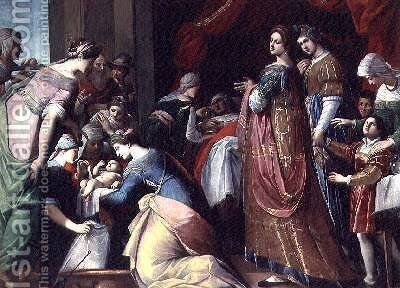 The Birth of the Virgin by Jacopo Ligozzi - Reproduction Oil Painting