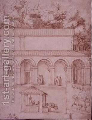 View of the Monastery of La Verna 3 by Jacopo Ligozzi - Reproduction Oil Painting
